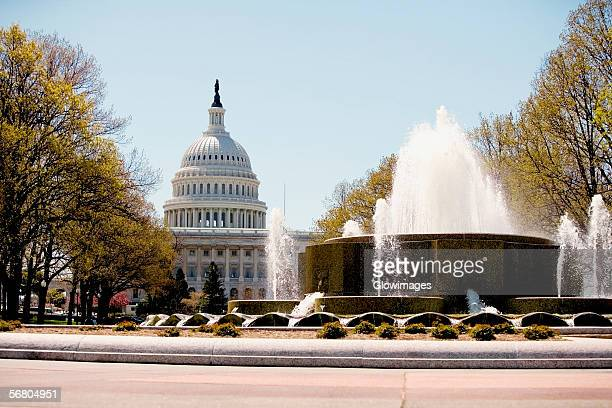 Fountain in front of the Capitol Building, Union Station, Washington DC, USA