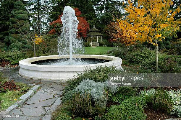 Brunnen im Garten Zoo von Seattle, Washington.