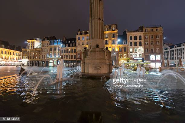 Fountain in Grand Place, Lille