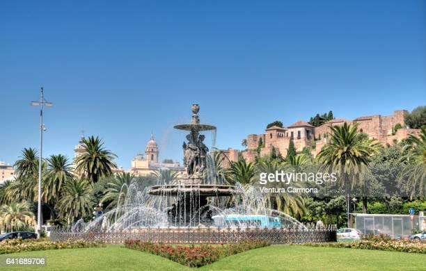 Fountain (Fuente de las Tres Gracias) in Málaga, Spain