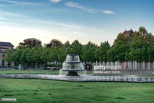 Fountain In Park Against Sky