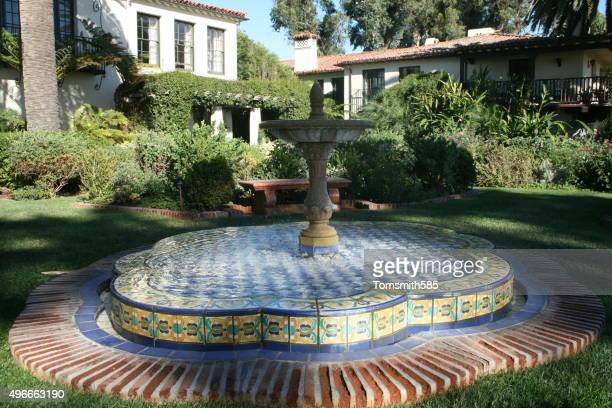 Fountain in Rose Garden, Biltmore Hotel, Santa Barbara