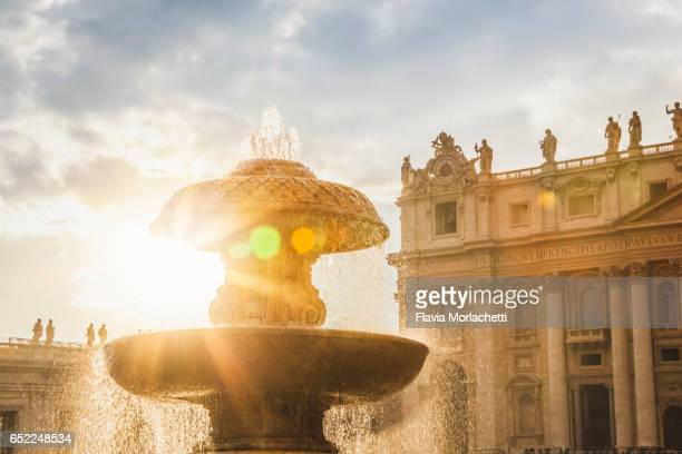 Fountain in St. Peter's square, Vatican City