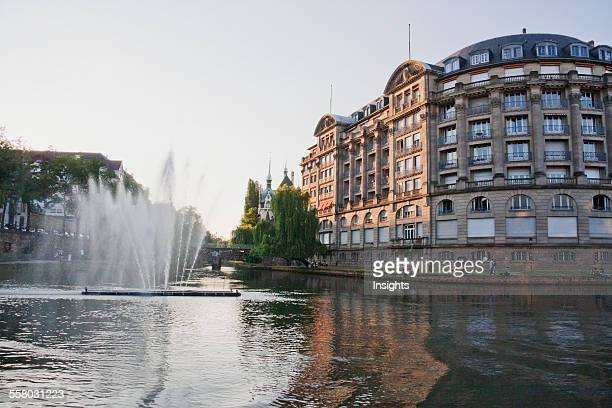 Fountain In The Ill River, Strasbourg, France
