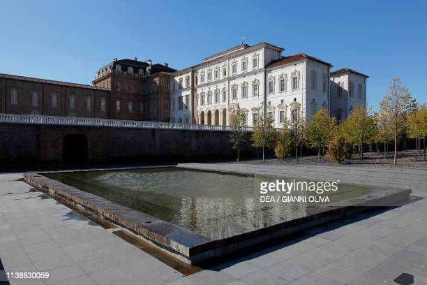 Fountain in the park of Venaria Reale palace Residence of the Royal House of Savoy Piedmont Italy