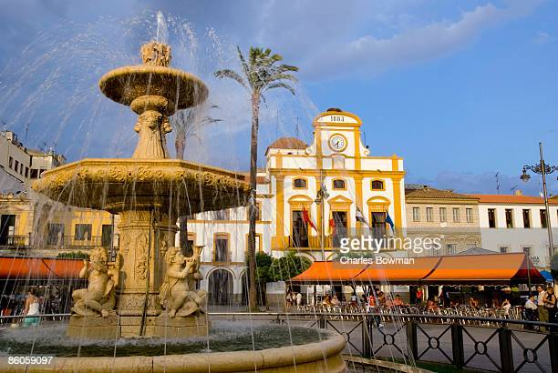 Fountain in town square, Spain