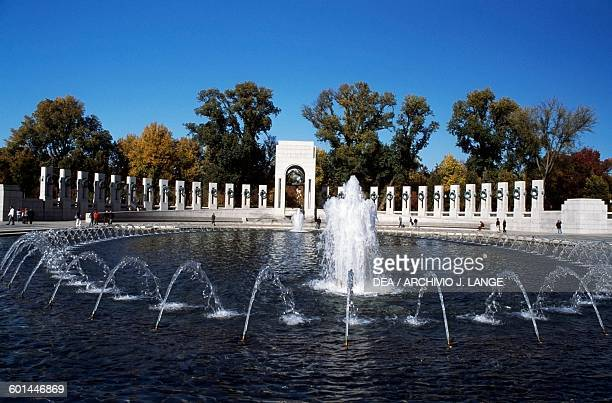 Fountain National World War II Memorial Washington DC District of Columbia United States of America