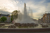 fountain near monument to red army