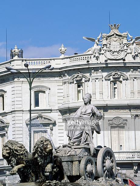 Fountain of Cybele Plaza de Cibeles Madrid Detail Spain 18th century