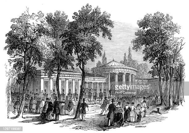 Fountain of Elise, Aix-la-Chapelle, 1845. 'The Mineral Springs of Aix rise in the centre of the town: they are of two classes - strong and hot, and...