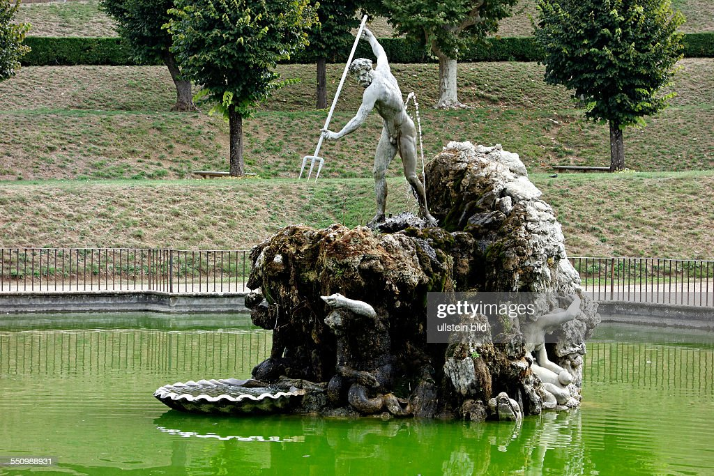 Fountain Of Neptune, Boboli Gardens, Florence, Italy
