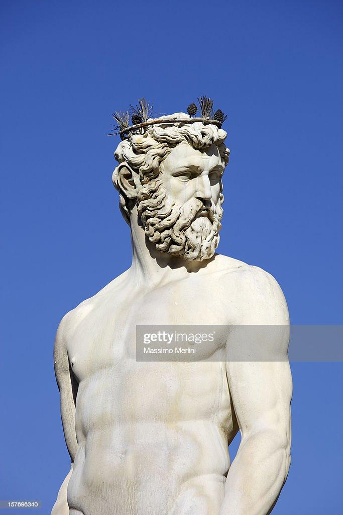 Fontana di Nettuno a Firenze : Foto stock