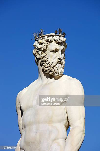 fountain of neptune in florence - classical greek style stock pictures, royalty-free photos & images