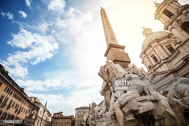 Fountain of the Four Rivers by Bernini at Piazza Navona