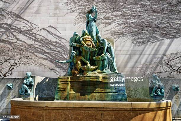 fountain of the great lakes, chicago - art institute of chicago stock pictures, royalty-free photos & images