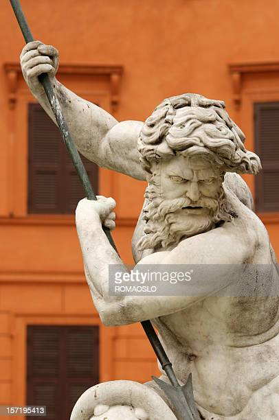 Fountain of the Neptune, Piazza Navona  in Rome Italy