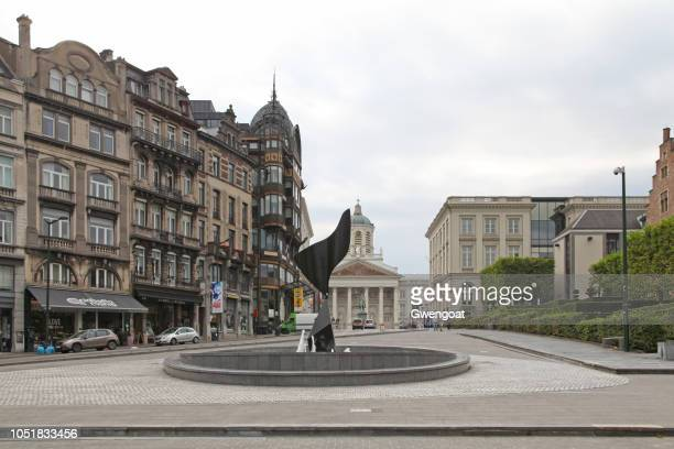 fountain of the oreille tourbillonante in brussels - gwengoat stock pictures, royalty-free photos & images
