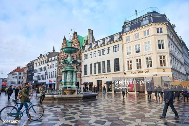 Fountain on a central square in Copenhagen