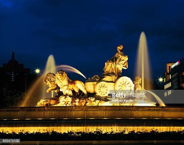 Fountain on the Plaza de la Cibeles, Madrid, Spain