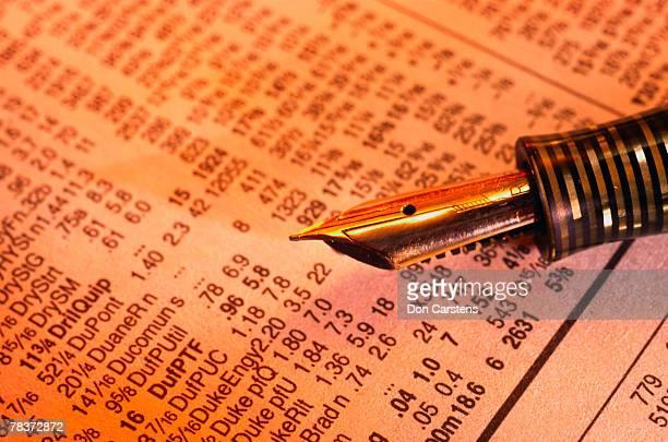 Fountain pen and stock market