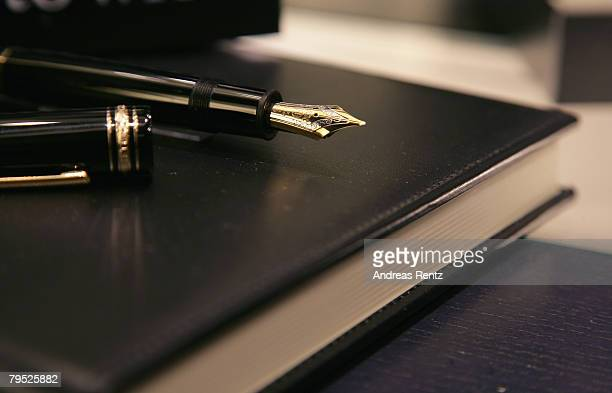 A fountain pen is seen during the Montblanc 'Meisterstueck 149' charity presentation in aid of the United Nations Children's Fund on February 5 2008...