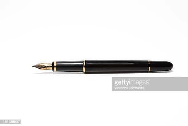 Fountain pen on a white background