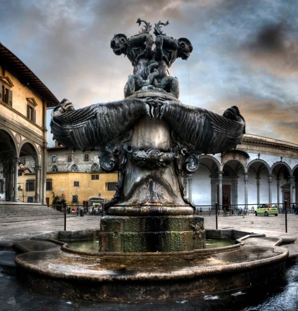 Fountain Piazza Santissima Annunziata in Florence