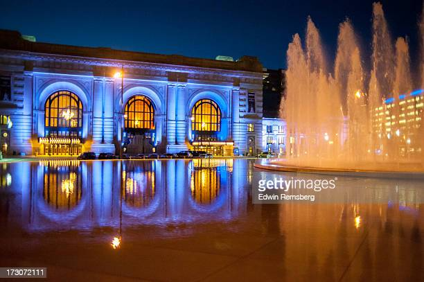 kc fountain - kansas city stock pictures, royalty-free photos & images