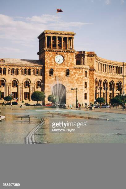 fountain - armenian flag stock pictures, royalty-free photos & images