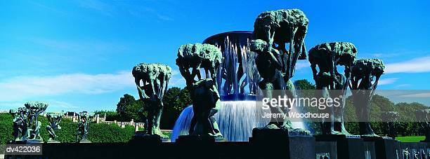 Fountain Sculpture by Gustav Vigeland, Frogner Park, Oslo, Norway,