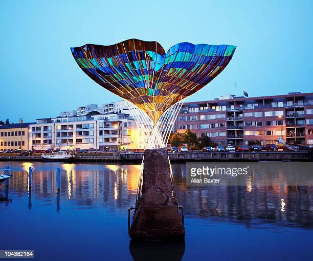 fountain sculpture in turku - トゥルク ストックフォトと画像