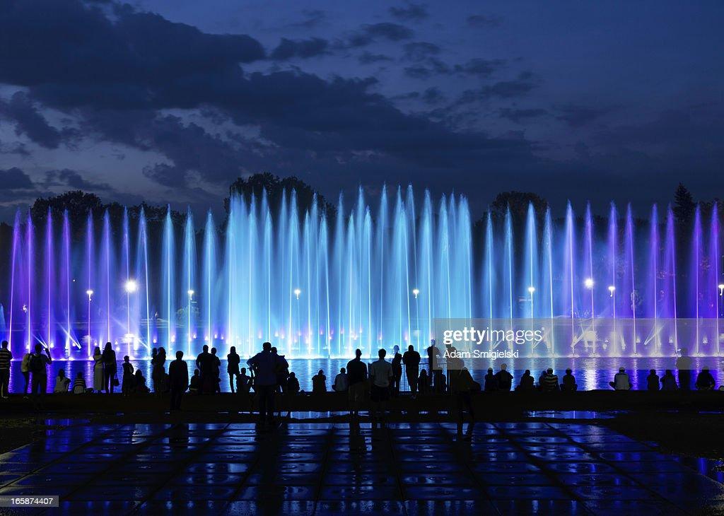 fountain show : Stock Photo