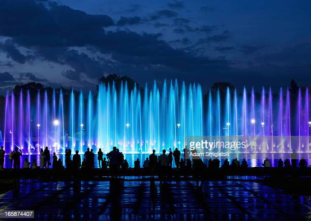 fountain show - fountain stock pictures, royalty-free photos & images