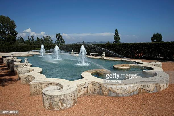 A fountain stands in front of the former home of Sisters of the Most Holy and Immaculate Heart of the Blessed Virgin Mary on Waverly Drive in the Los...