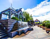 fountain waterfall pavilion reno river walk