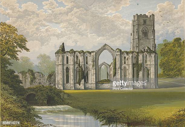 Fountains Abbey' From The Ruined Abbeys of Britain by Frederick Ross [William Mackenzie London 1897] Artist Alexander Francis Lydon
