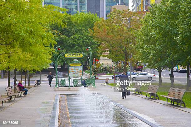 Fountains and Metro entrance, Montreal