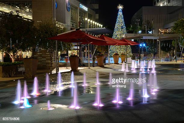 fountains at cityscape in downtown phoenix - arizona christmas stock pictures, royalty-free photos & images