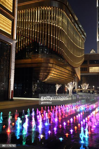 Fountains at the Arts and Cultural Centre, Shanghai Bund Financial Centre,, China