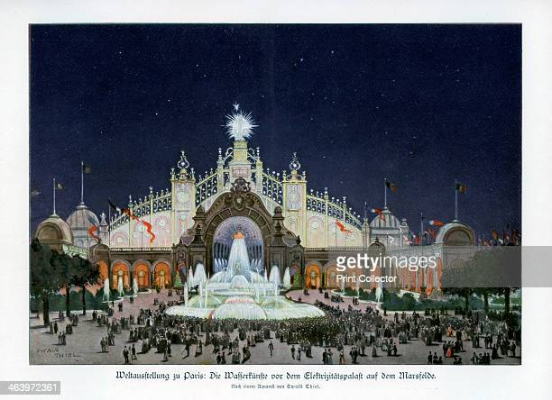 Fountains at the Palace of Electricity Champ de Mars Paris World Exposition 1889