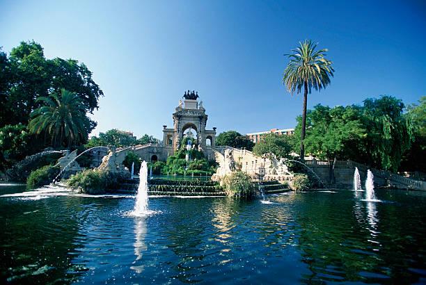 Fountains in a park, Ciutadella, Barcelona, Spain
