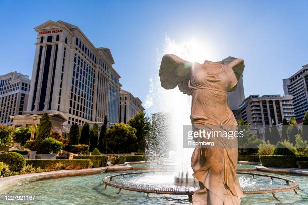 Fountains in front of the Caesars Entertainment Inc. Caesars Palace hotel and casino in Las Vegas, Nevada, U.S., on Tuesday, July 28, 2020. Caesars...