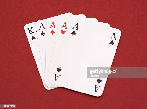Four Aces and a king of spades