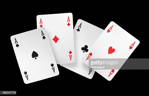 four aces - poker stock photos and pictures