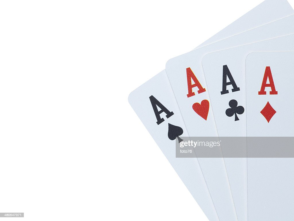 Four aces : Stock Photo