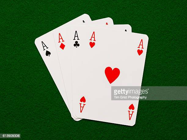 four aces - luck stock photos and pictures