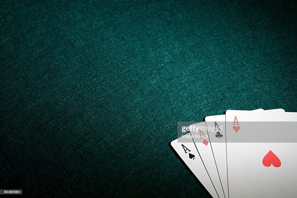 Four aces : Stock Photo
