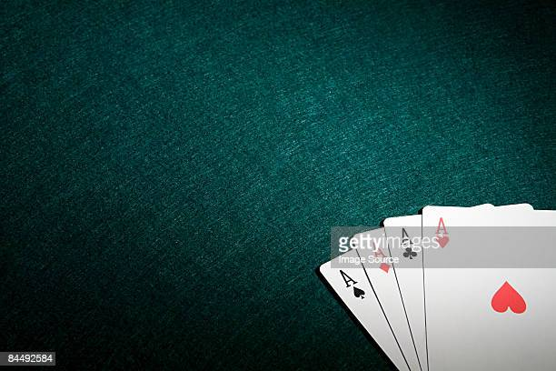 four aces - four objects stock pictures, royalty-free photos & images