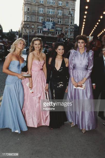 Four actresses from the James Bond film 'Octopussy' attend the film's premiere at the Odeon Leicester Square London 6th June 1983 They include Mary...