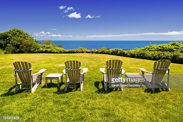 Four adirondack chairs